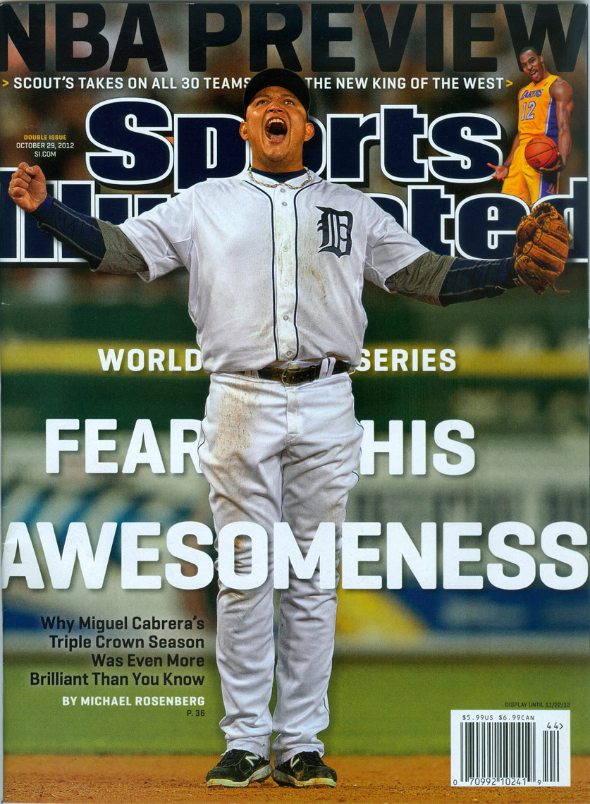 Miguel Cabrera on the cover of Sports Illustrated in 2012.