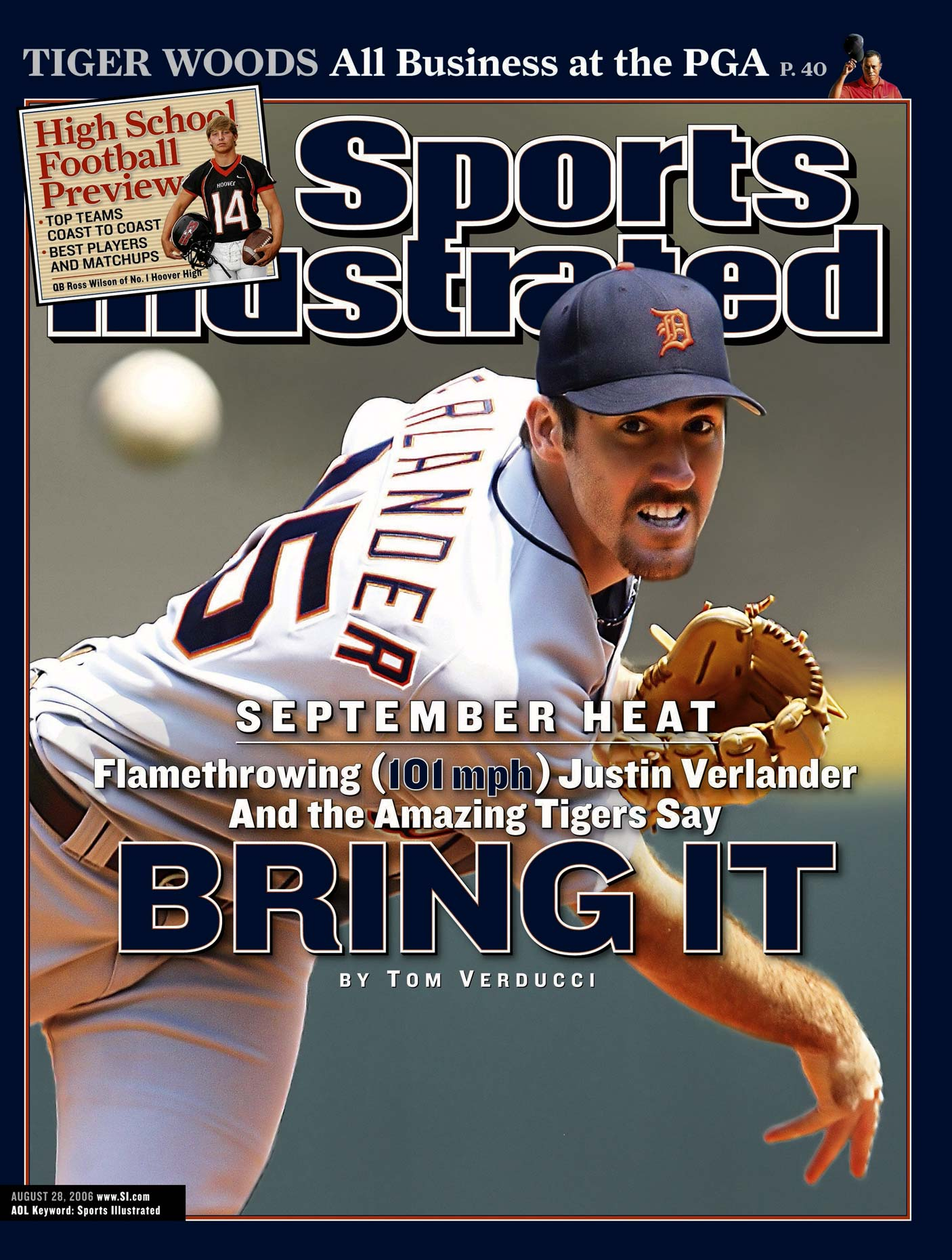 Justin Verlander | Detroit Tigers | Sports Illustrated Cover | Baseball