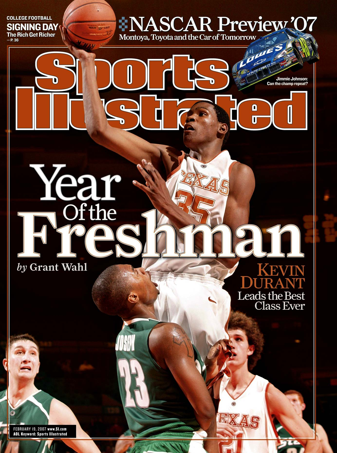 Kevin Durant | Texas Basketball | Sports Illustrated Cover | Freshman