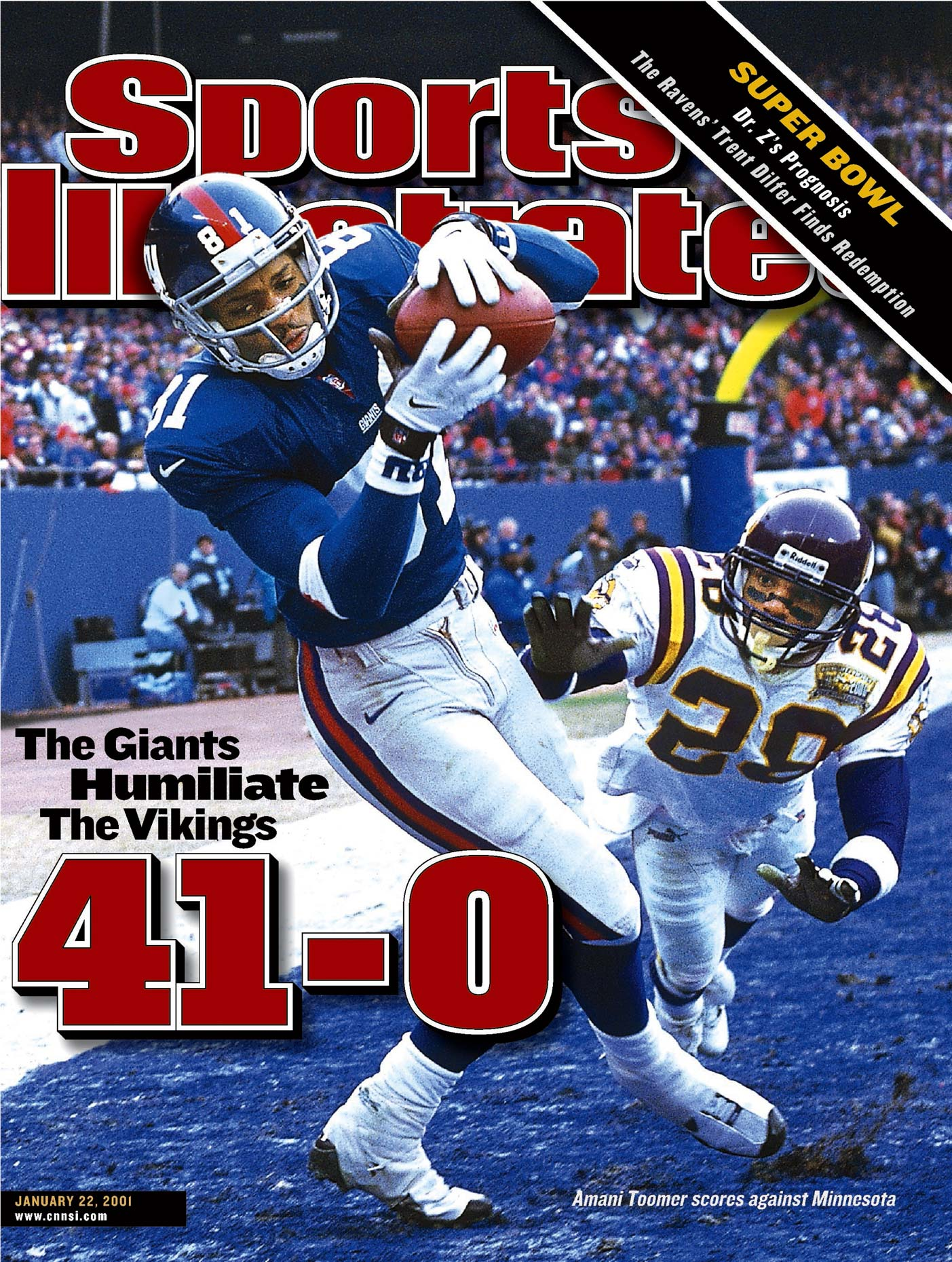 Amani Toomer | New York Giants | Cover of Sports Illustrated