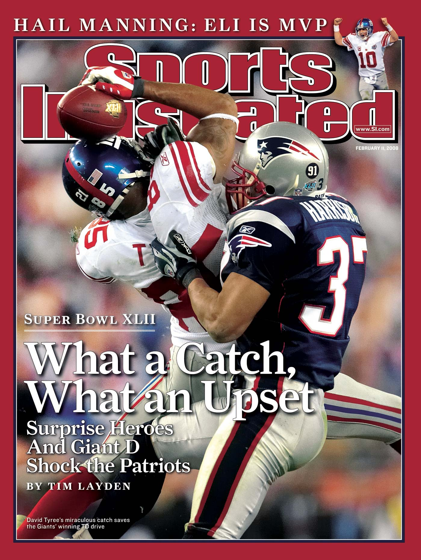 David Tyree of the New York Giants on the cover of Sports Illustrated.