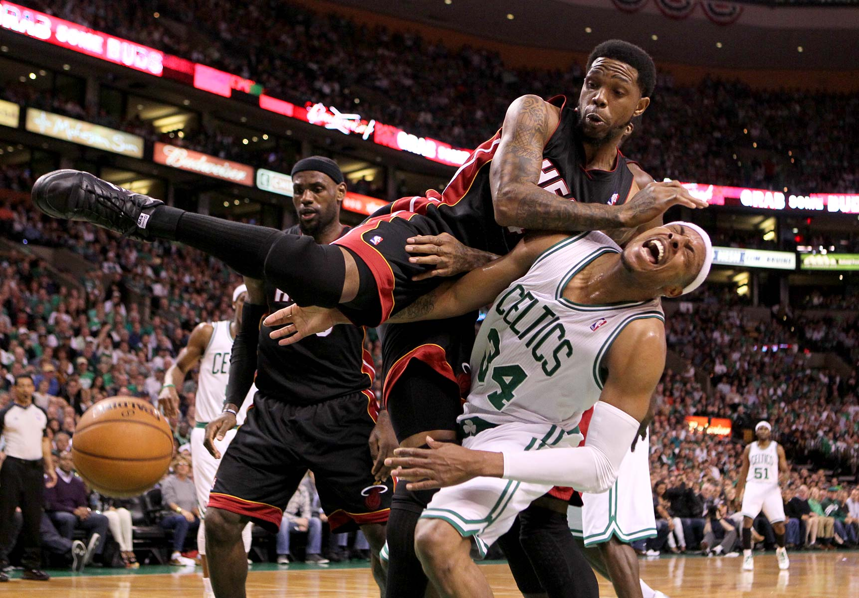 Paul Pierce | Udonis Haslem | Celtics Heat NBA Basketball
