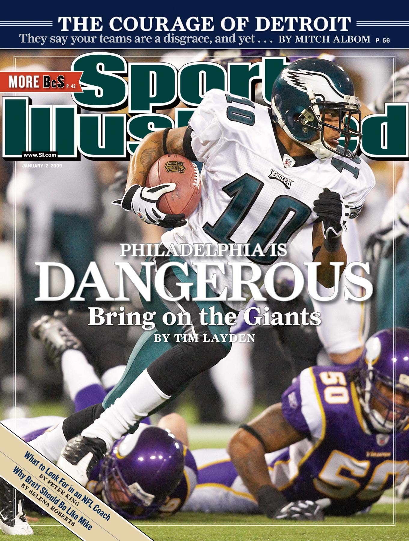 DeSean Jackson of the Philadelphia Eagles on the cover of Sports Illustrated.