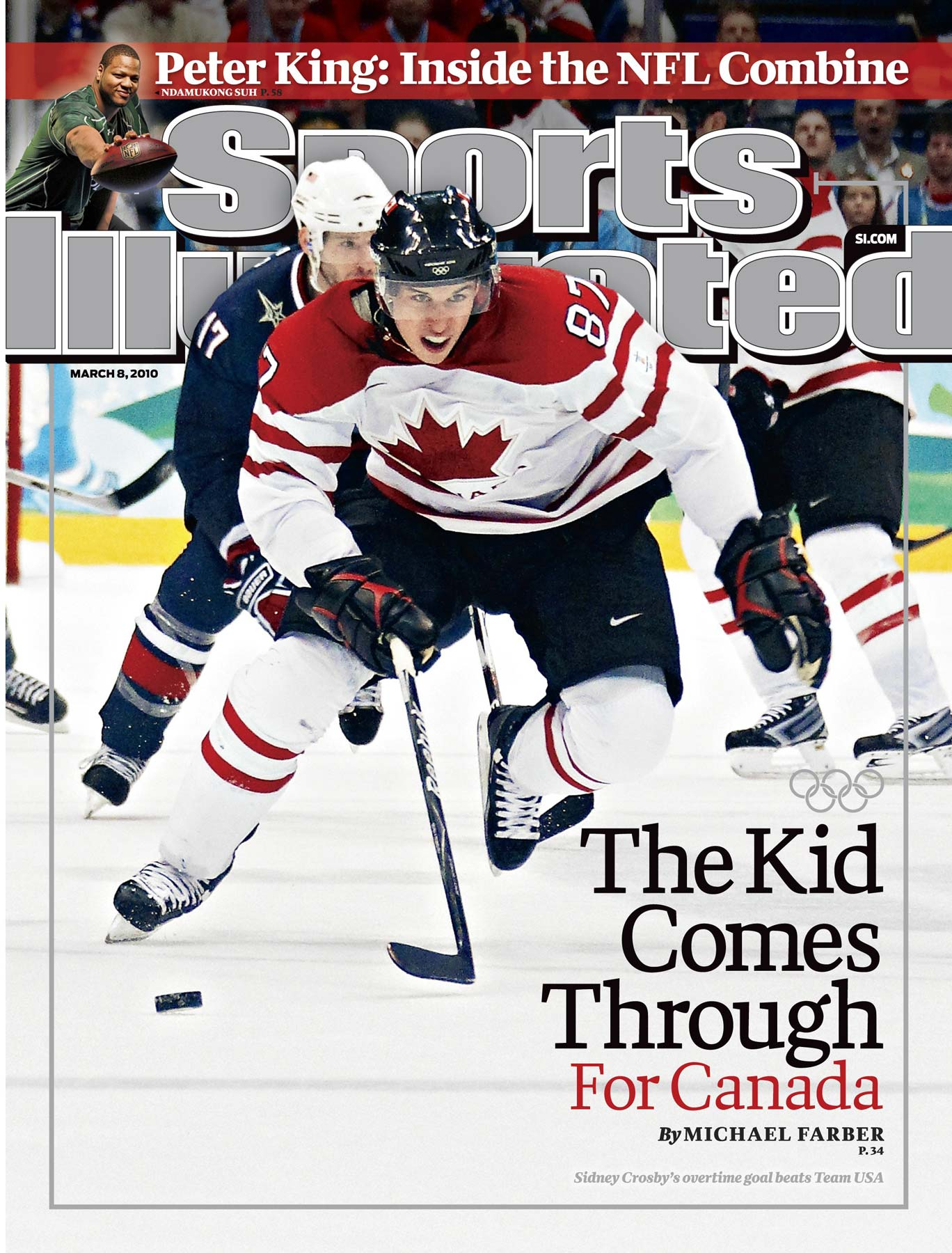 Hockey standout Sydney Crosby lead Team Canada to the Olympic gold and was featured on  the cover of Sports Illustrated. Photograph by Damian Strohmeyer